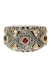 Phillip Gavriel 18K Yellow Gold And Oxidized Silver Citrine And Garnet Ring Multi