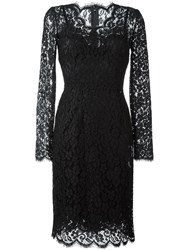 Dolce And Gabbana Lace Cocktail Dress Black