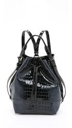 Opening Ceremony Croc Embossed Izzy Backpack Midnight Navy