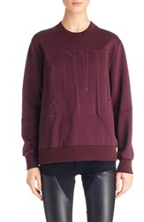 Women's Givenchy 'Love' Embroidered Sweatshirt