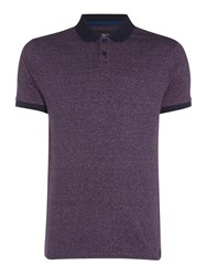 Criminal Spencer Stripe Polo Top Burgundy
