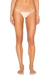 For Love And Lemons Tiny Tanlines Thong Bikini Bottom Peach