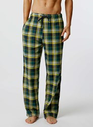 Topman Yellow And Green Check Pyjamas