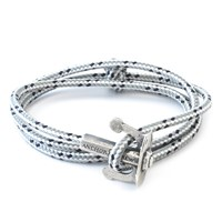 Anchor And Crew Grey Dash Union Rope Bracelet