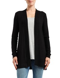 Three Dots Open Front Cardigan Black