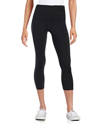 Calvin Klein Cropped Compression Leggings Black