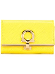 Salvatore Ferragamo Gancio Key Holder Yellow And Orange