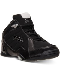 Fila Men's Leave It On The Court Basketball Sneakers From Finish Line Black Black Met Silver