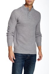 Yoki 3 4 High Collar Button Down Pullover Gray