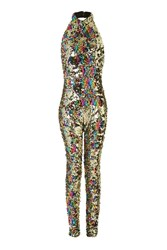 Jaded London Rainbow Gold Catsuit By