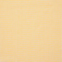 Unbranded Cotton Gingham 2.7Mm Fabric Yellow