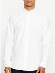 Hackett Plain Oxford Shirt White