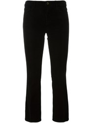 J Brand Cropped Corduroy Trousers Black
