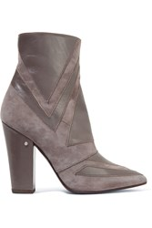 Laurence Dacade Isola Leather And Suede Boots Gray
