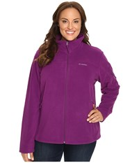 Columbia Plus Size Fast Trek Ii Full Zip Fleece Jacket Plum Women's Coat Purple