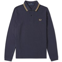 Fred Perry Reissues Long Sleeve Original Twin Tipped Polo Blue