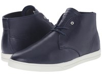 Clae Strayhorn Navy Leather Men's Shoes Blue