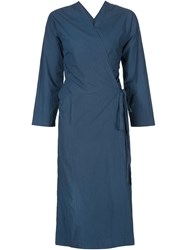 Arts And Science Wrap Style Midi Dress Blue