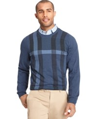 Van Heusen Big And Tall Plaid Sweater Blue Multi