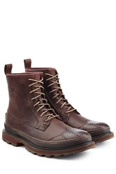 Sorel Leather Ankle Boots Brown