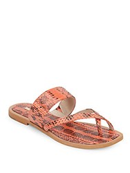 Louise Et Cie Amyas Embossed Leather Sandals Salmon