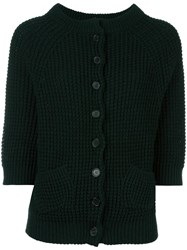 Stefano Mortari Cable Knit Cardigan Green