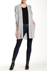 Ella Moss Long Sleeve Fringe Cardigan Metallic