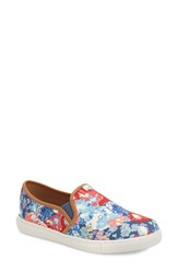 Women's Splendid 'Seaside' Slip On Sneaker Blue Floral Canvas