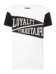 A Question Of Print Crew Neck Regular Fit T Shirt White