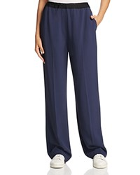Dkny Pure Drawcord Wide Leg Pants Classic Navy