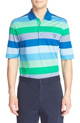 Men's Paul And Shark Stripe Pique Cotton Polo