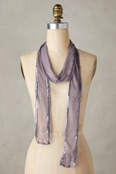 Anthropologie Cirrus Beaded Skinny Scarf Lilac