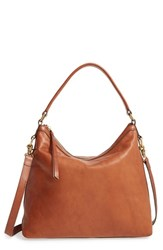 Frye Claude Leather Hobo Brown Whiskey