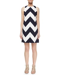 Milly Chevron A Line Shift Dress