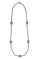 Lagos 'Caviar Forever' Station Rope Necklace Silver Gold