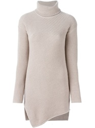 Odeeh Oversize Ribbed Sweater Nude And Neutrals
