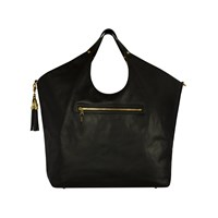 Jlew Bags Black And Gold Heavyweight Triangle Top Tote