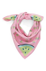 Bcbgeneration Women's 'Watering Melons' Print Scarf Pink Candy