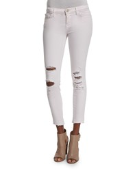 J Brand Jeans 932 Low Rise Distressed Cropped Jeans Demented Orchid Size 31 Purple Demented Orchid I