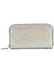 'Flying Kenzo' Continental Wallet Metallic
