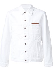 Umit Benan Back Patched Denim Jacket White