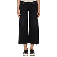 Simon Miller Women's W005 Crop Jeans Black Blue Black Blue