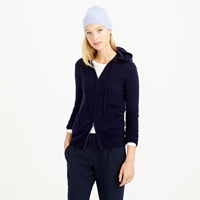 J.Crew Collection Cashmere Zip Front Hoodie