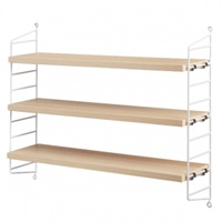 String String Pocket Shelf Ash White Bookcases Furniture Finnish Design Shop