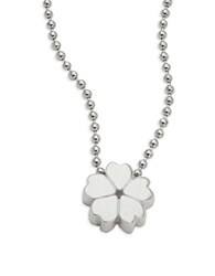 Alex Woo Sterling Silver Cherry Blossom Icon Necklace