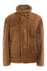 Jil Sander Sheepskin Jacket With Leather Brown
