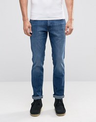Wrangler Boston Slim Jeans Rough Time Blue