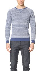 Native Youth High Twist Knitted Crew Sweater Blue