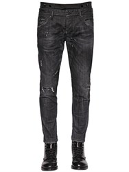 Dsquared 16Cm Tuxedo Waist And Bands Denim Jeans