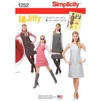 Simplicity Women's Vintage Shift Dress Sewing Pattern 1252